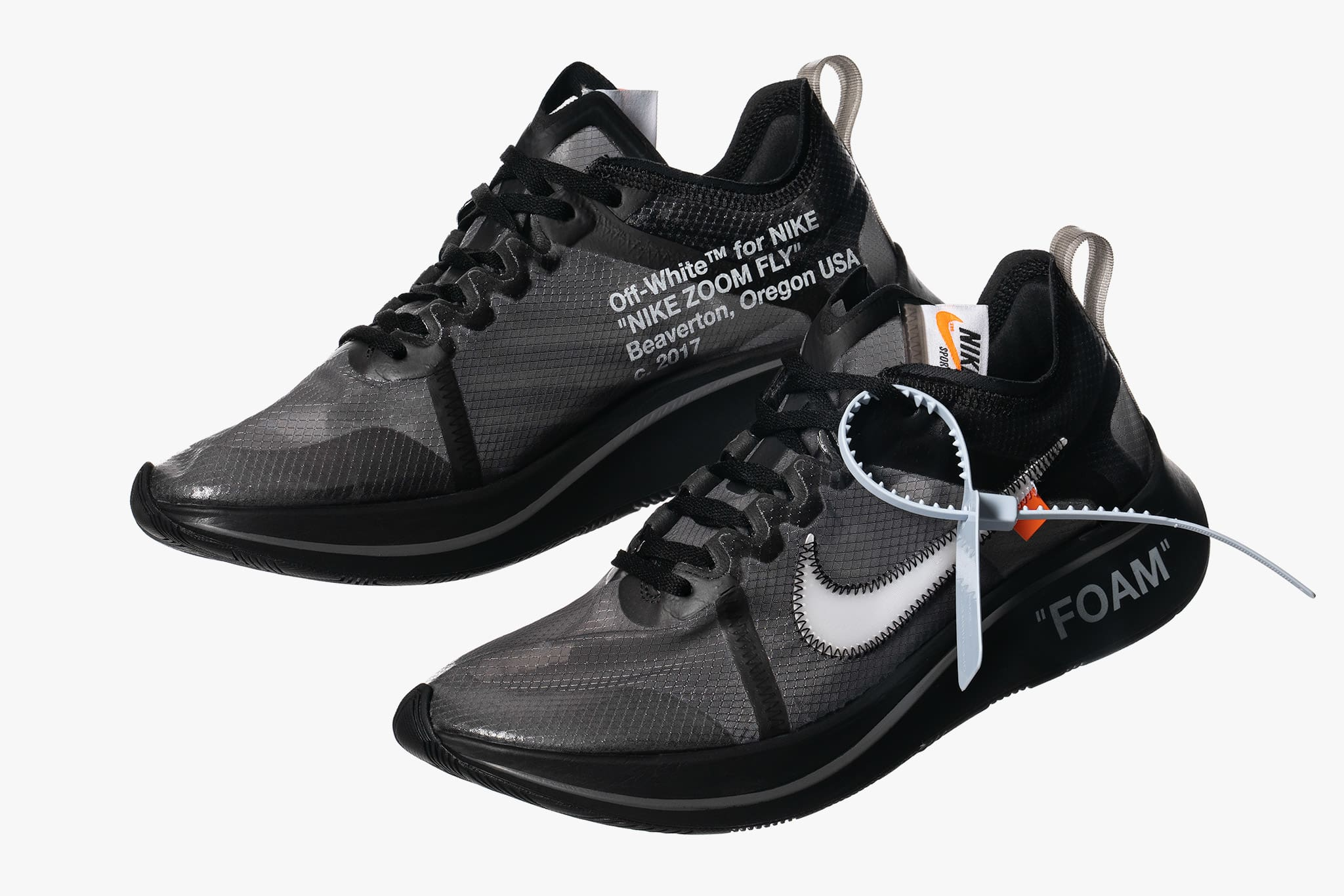 b7785927b704d Nike x Off White The Ten Zoom Fly Black