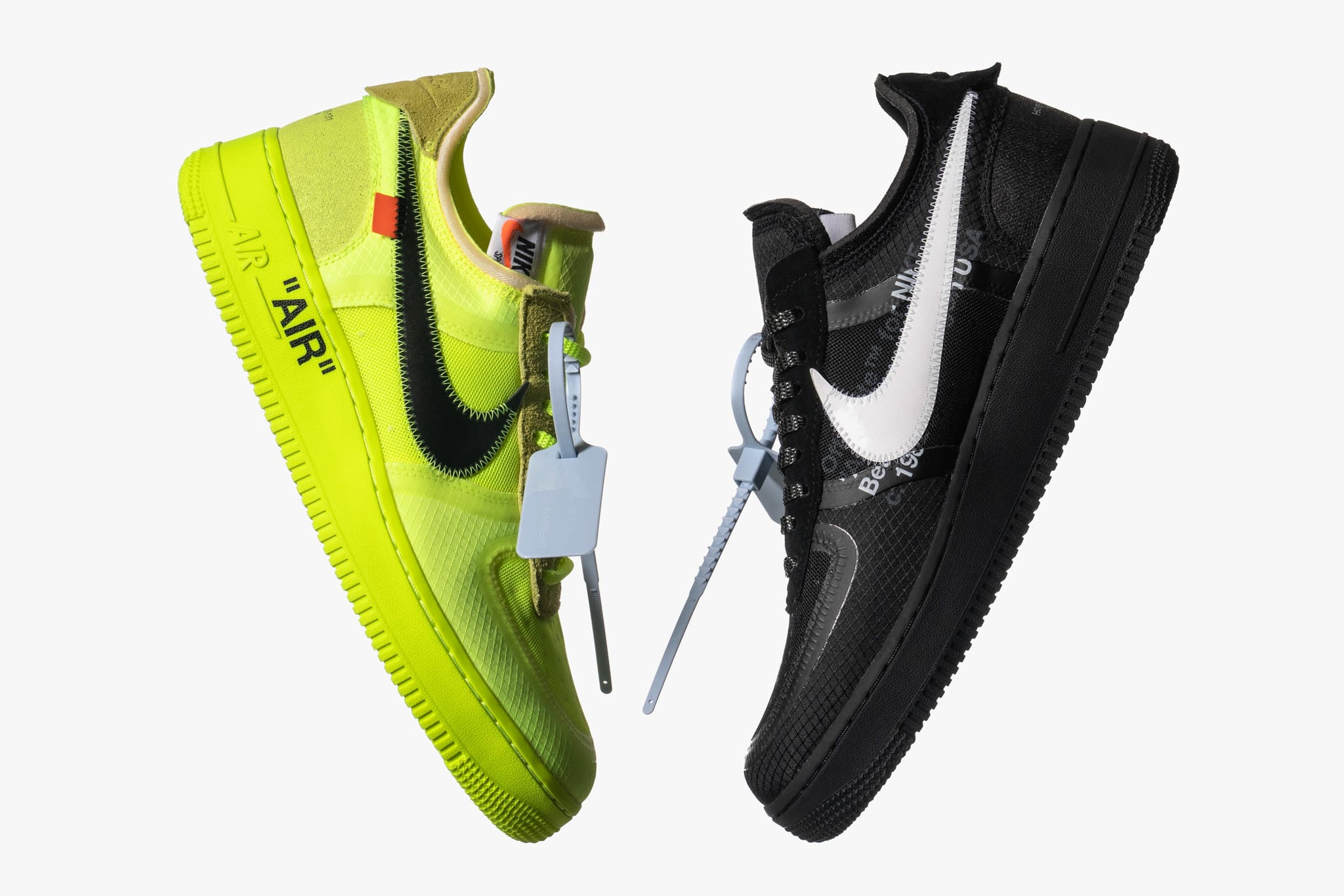 99f858a4bd Nike and Virgil Abloh continue their collaborative partnership this season  with the Nike x Off White The Ten Air Force 1. Available in a black and  white ...
