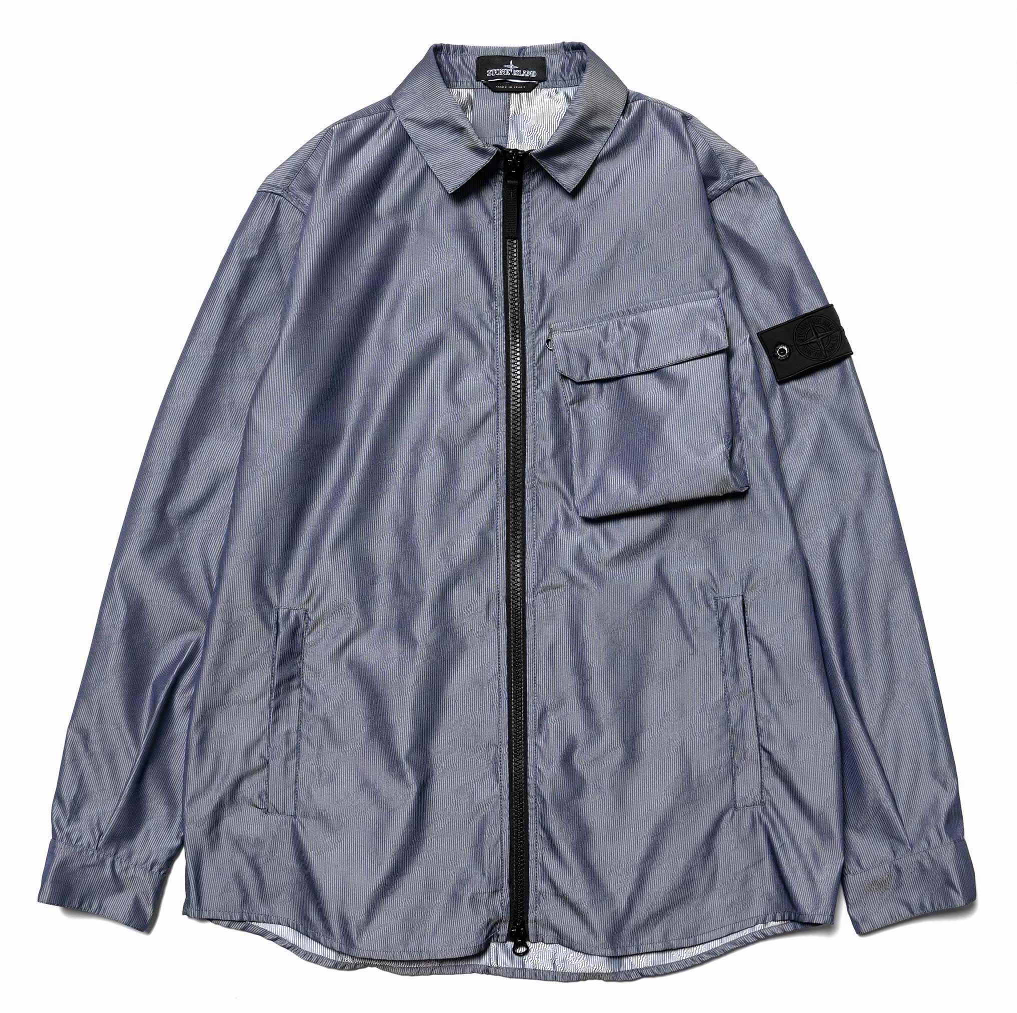 485346c79b5c00 The two are combined in Stone Island Shadow Project s unique Lenticular Jacquard  Zip Shirt ...