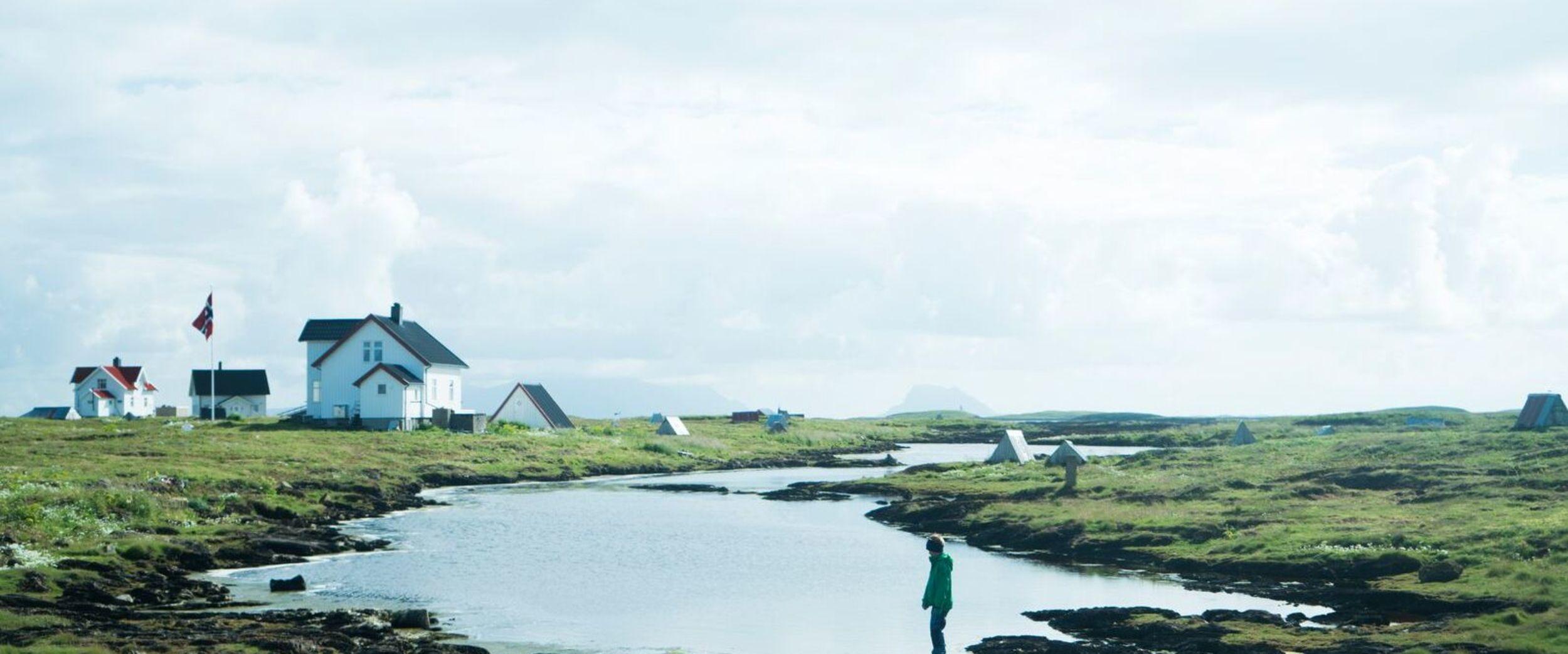 Vega landscape with small houses for eider ducks. Photo: Anton Ligaarden, visitnorway.com