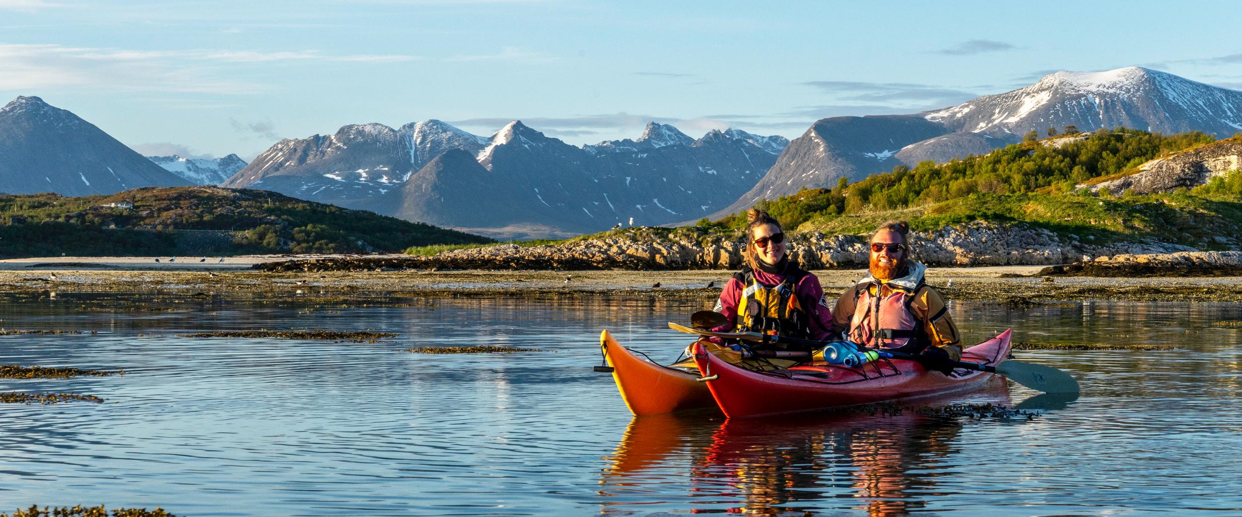 kayaking outside Tromsø in a beautiful summer day. Photo: Victor de Coen