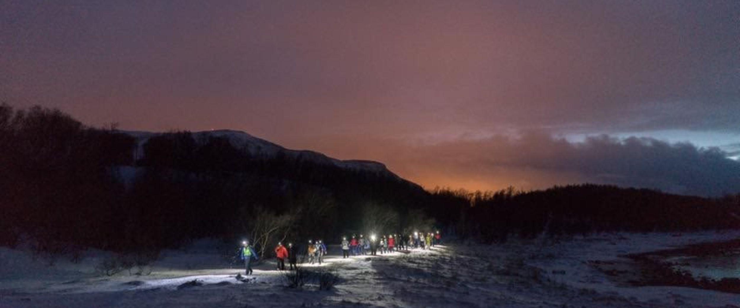 Coastal walk in the dark on a winter day. Photo: Meike Zylmann