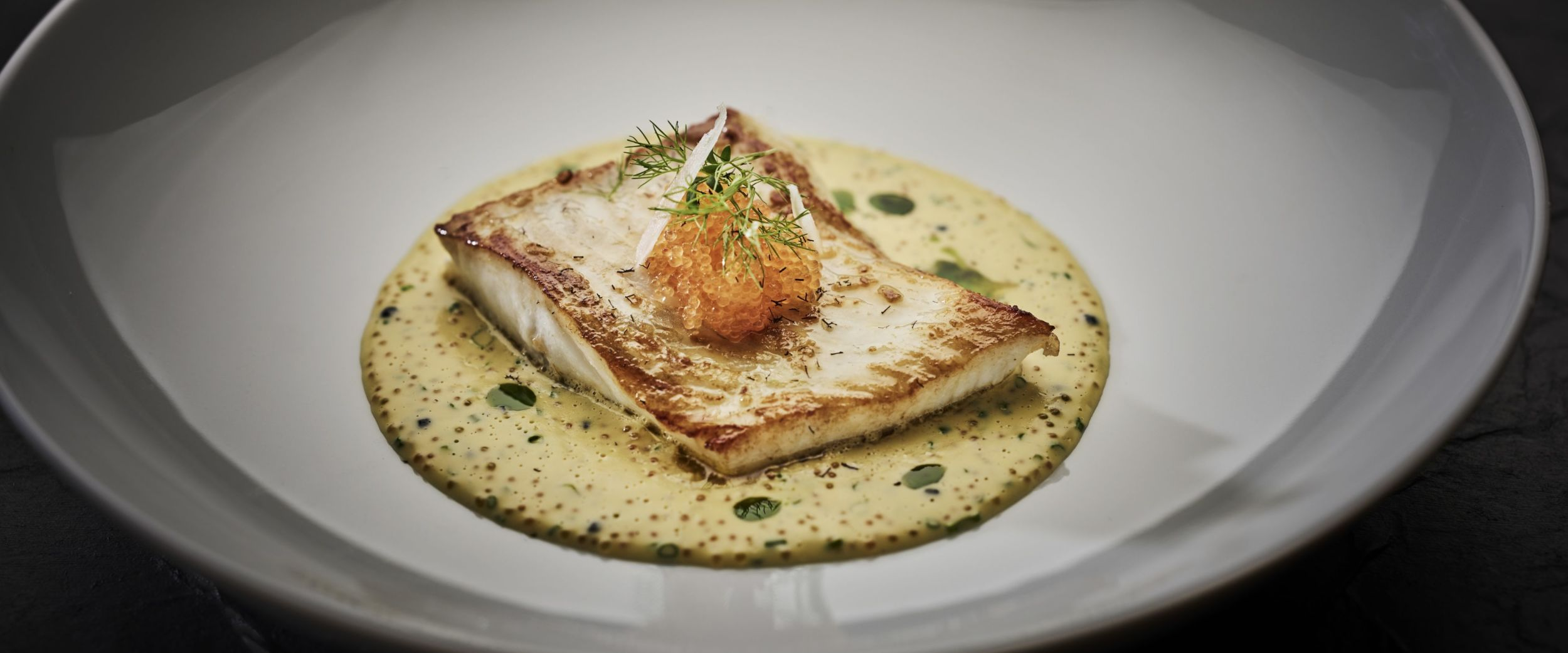 Pan-fried turbot - With caviar and fennel sauce from Hildring Fine Dining, photo by Tom Haga