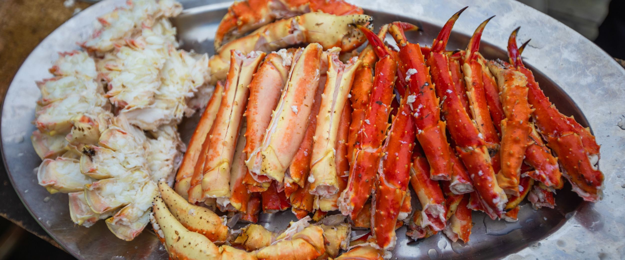 Plate full of delicious king crab