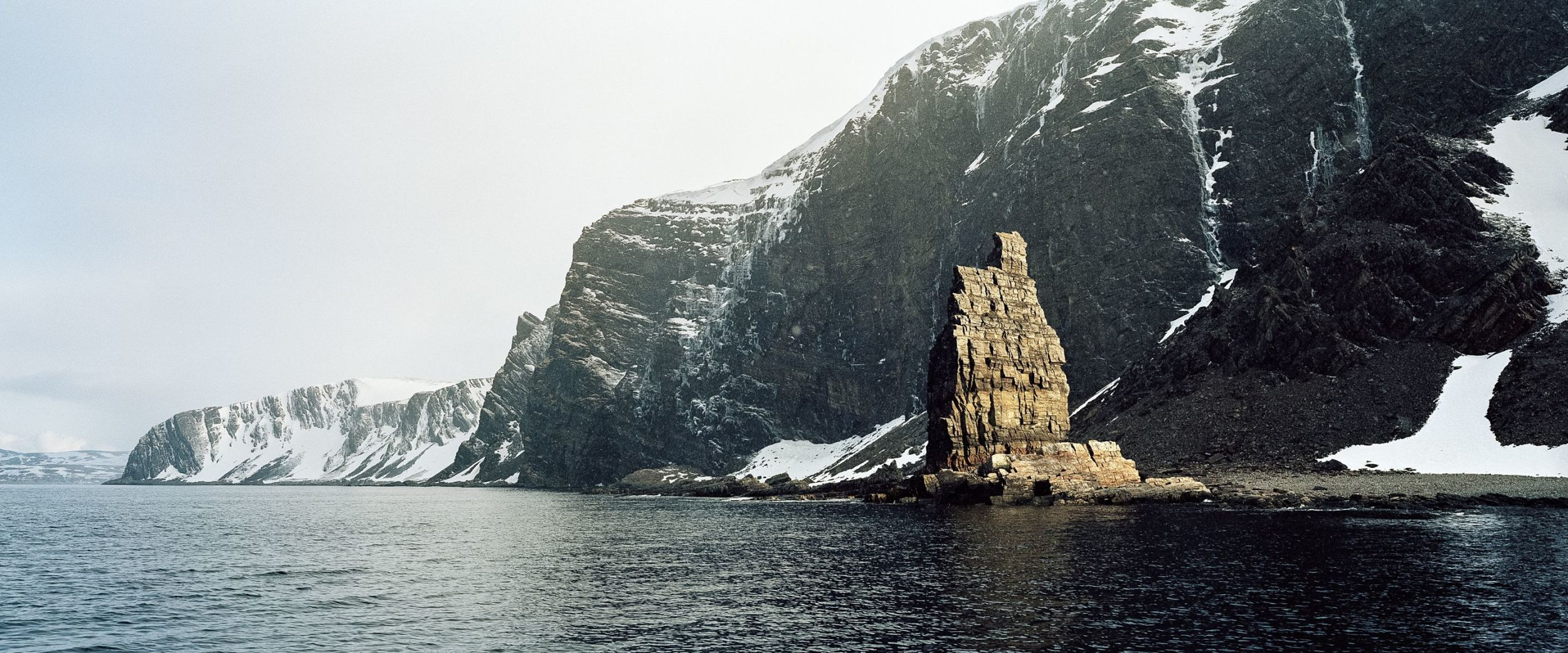 Natural stone formation looking like a church in the North of Norway.