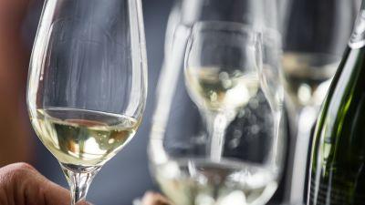 Wine served at Havila