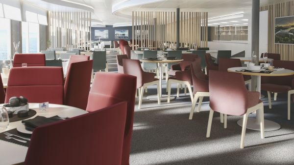 Main restaurant with furniture.