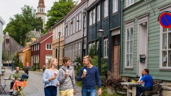 Trondheim. Bakklandet