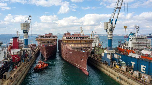 Ship launch of Havila Capella and Havila Castor