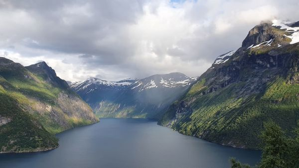 Geiranger fjord seen from Ljøen