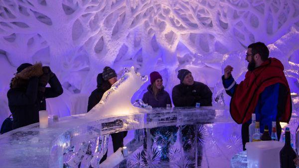Ice bar at Kirkenes Snow Hotel