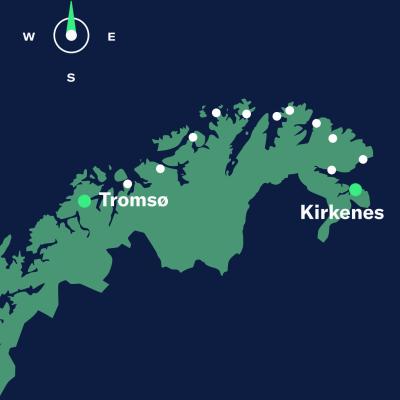 map tromso–kirkenes north