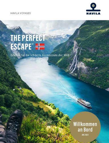 Havila Voyages catalogue 2020 German front cover.