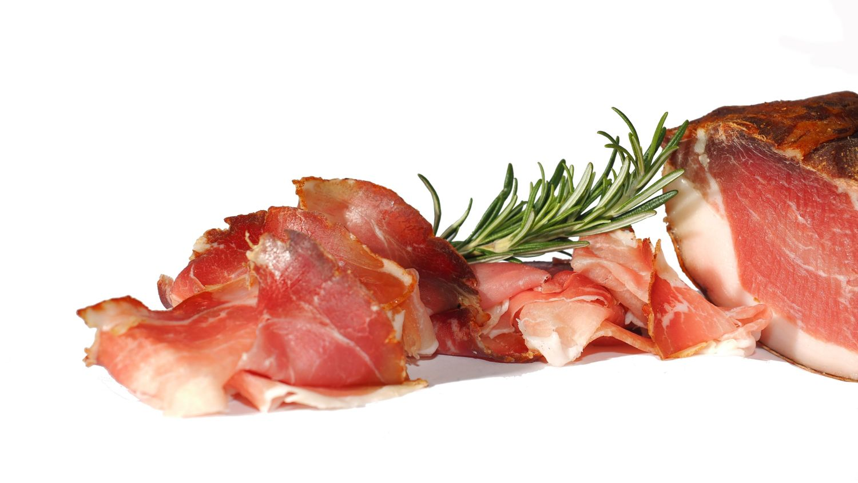 Ham, smoked and dried.
