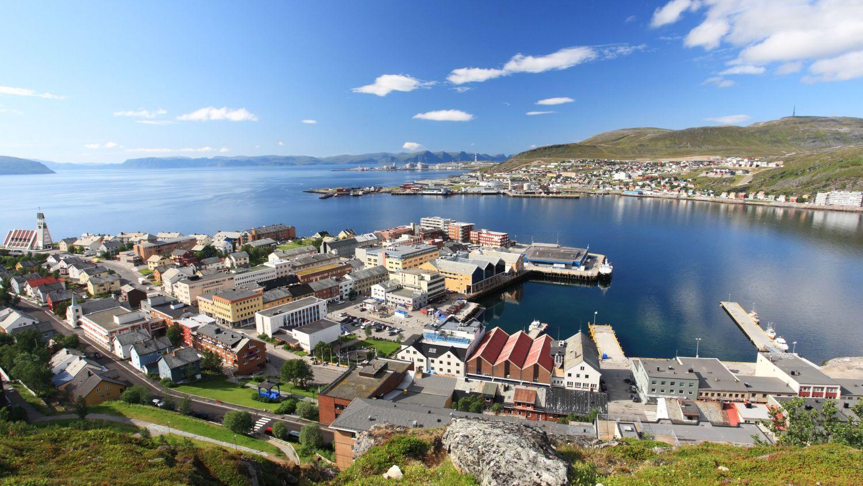 Port of Hammerfest in summer