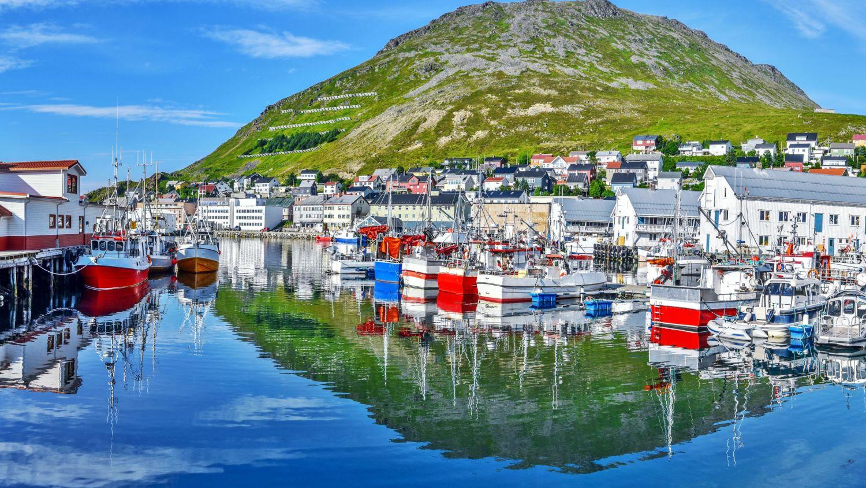 Honningsvåg in Northern Norway in the summer