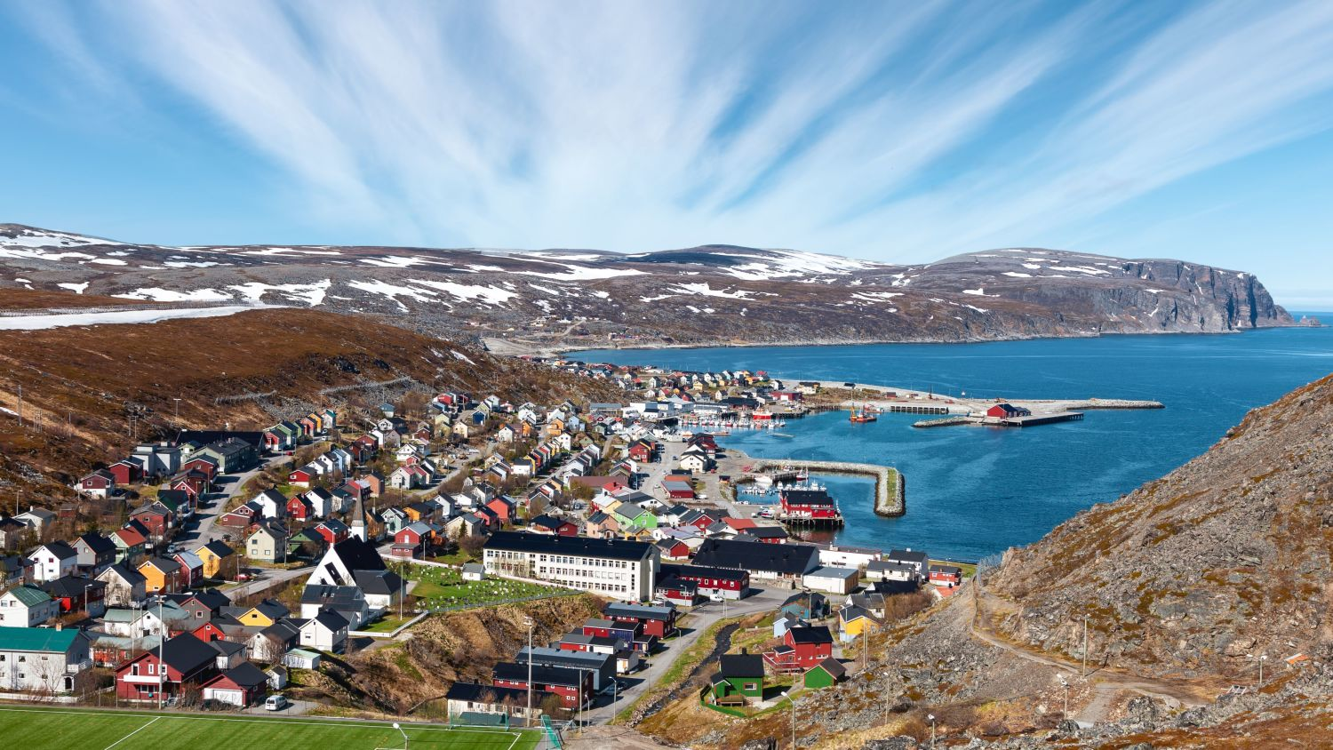 Town of Kjøllefjord in Northern Norway.