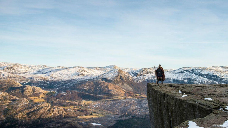 Viking in norwegian nature