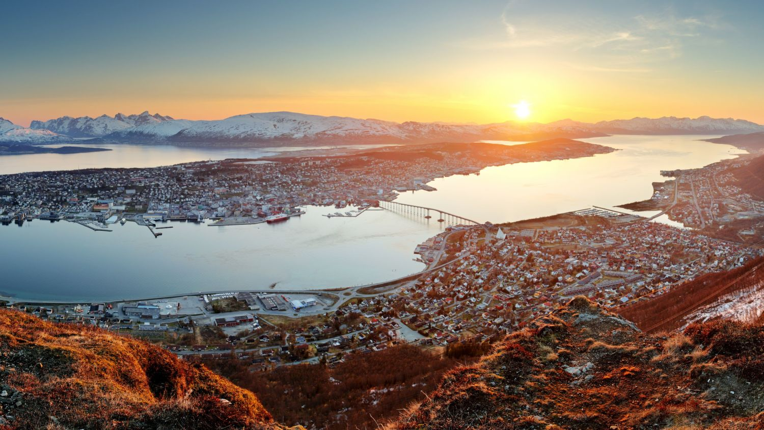 Tromsø in sunset.