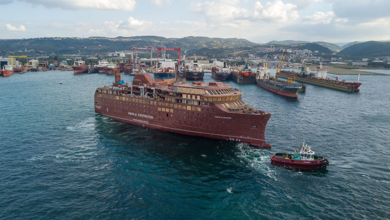 Havila Capella launched at Tersan shipyard.