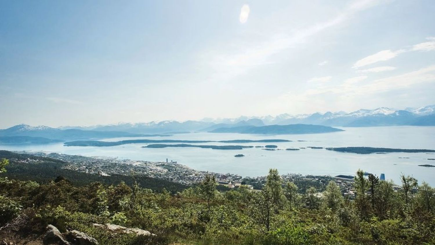 Molde seen from the mountain.