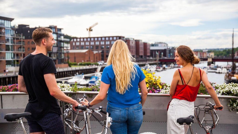 Trondheim. Bysykling