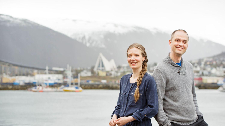 Walking theatre in Tromsø. Photo: Ingun alette Mæhlum