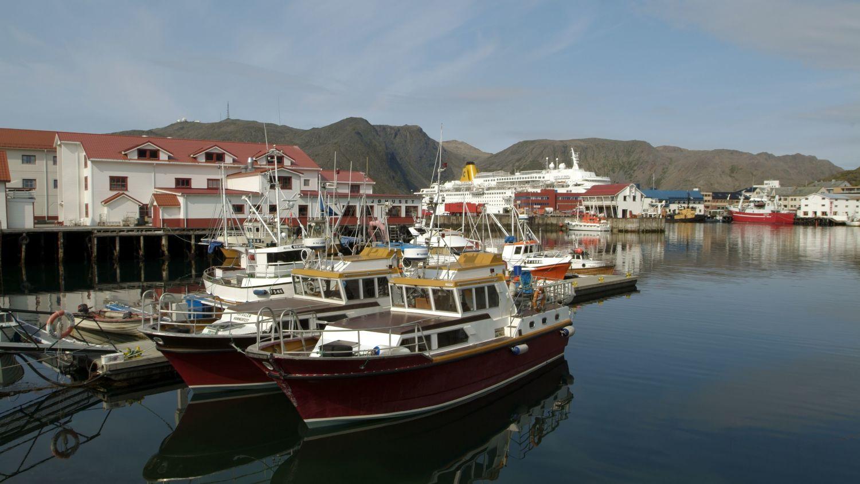 The harbour in Honningsvåg, Photo: Trym Ivar Bergsmo, nordnorge.com