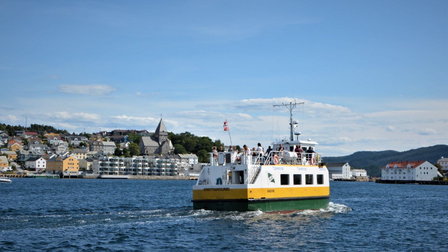 The tiny and traditional passenger boat in Kristiansund