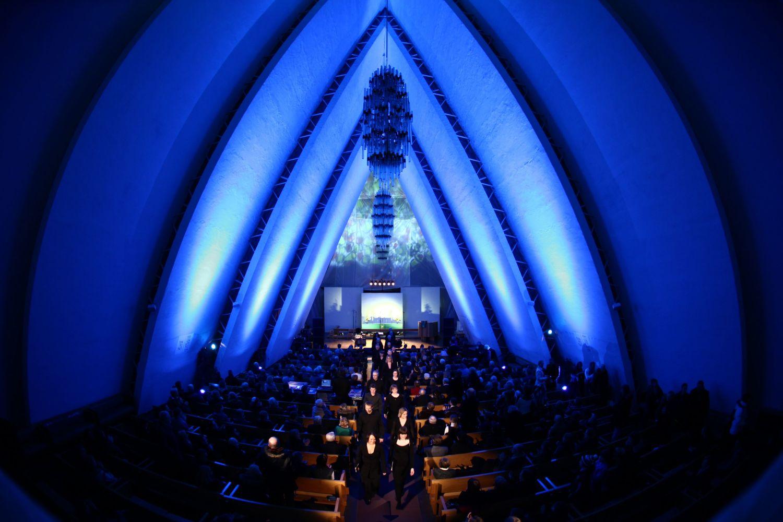 Konsert i Ishavkatedralen, interiør