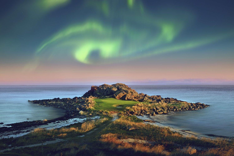 Lofoten Links, golf course in northern light. Photo: Jacob Sjöman