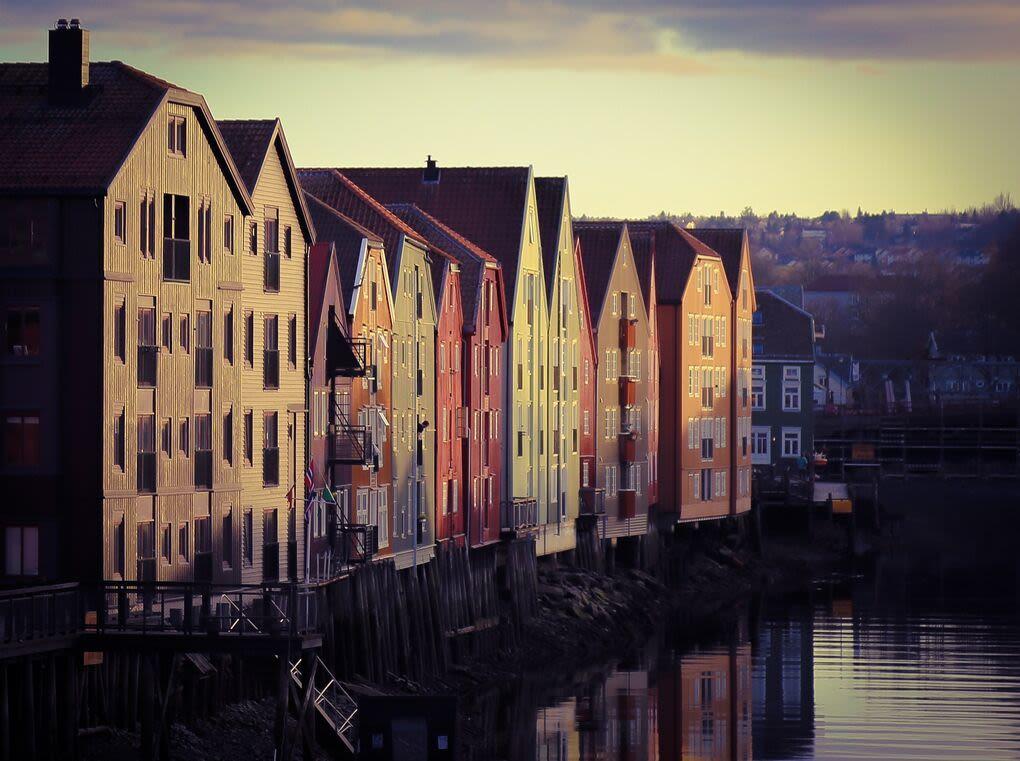 Trondheim. Nidelven.