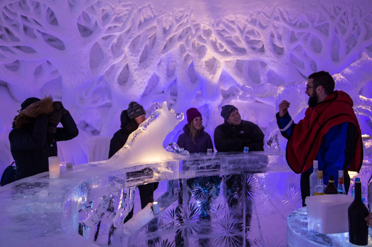Ice bar at Kirkenes Snow Hotel