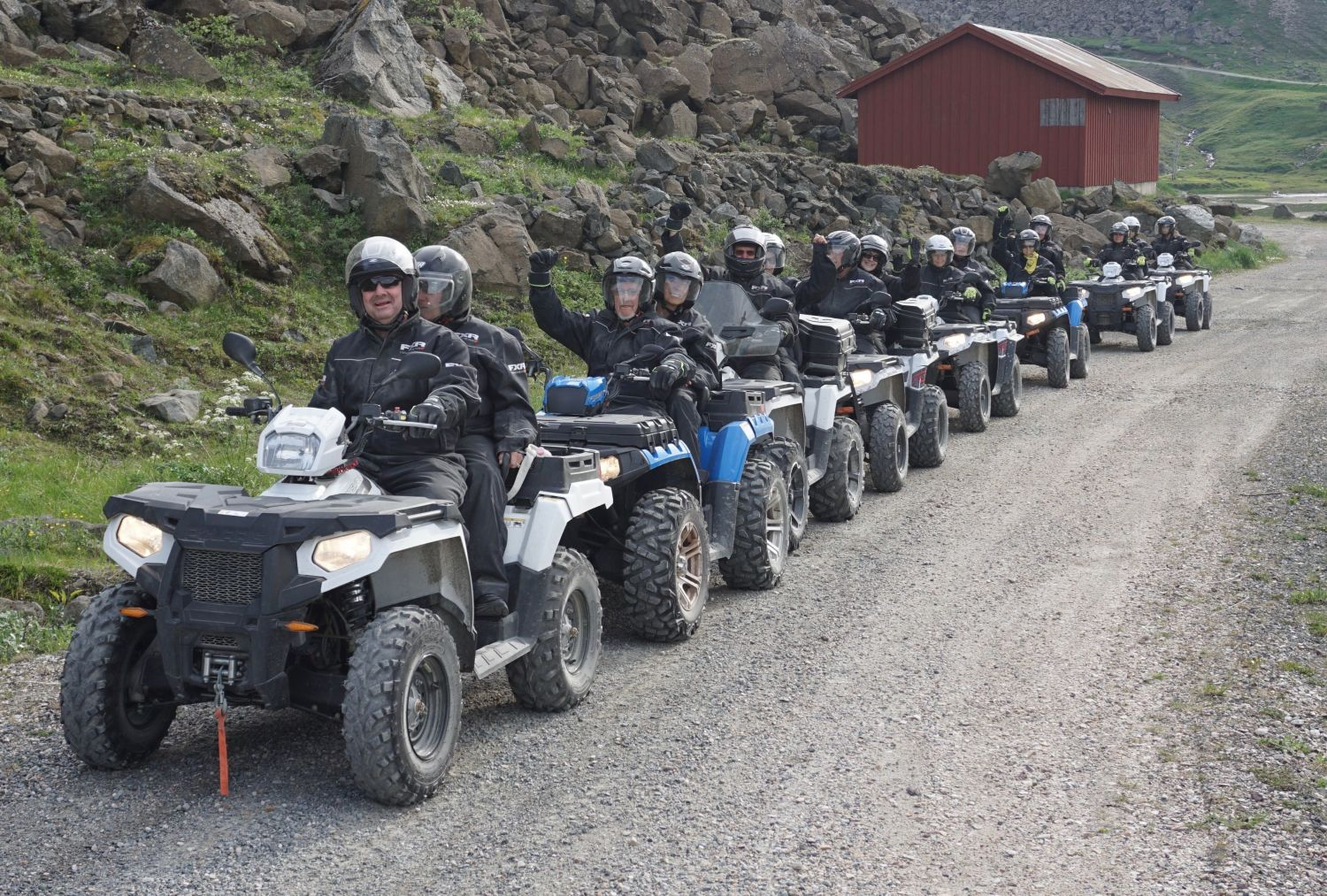 Quadbiking at the Northcape in the summer