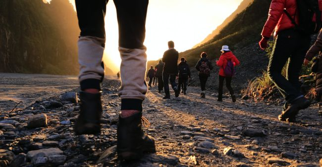 Close-up of hiking. Photo: Unsplash