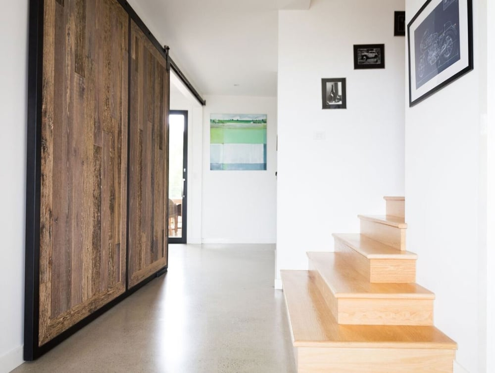 Project | AU | Relik | RECM2025 | Reclaimed Barn Oak | North Curl Residence | Door close-up