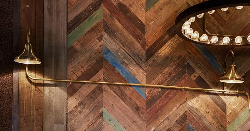 RECM2200 Painted Pine Chevron - Nandos Restaurant