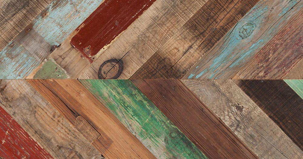 RECM2200 Reclaimed Painted Pine Chevron by Havwoods