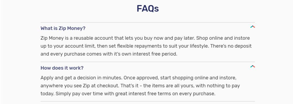 Resource | AU | Zip FAQ