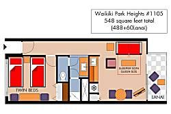 Waikiki Park Heights #1105