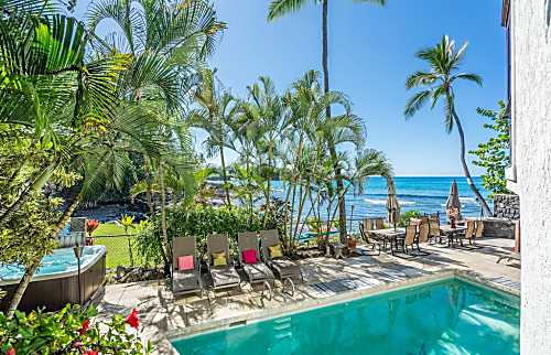Oceanfront Kona Resort Home