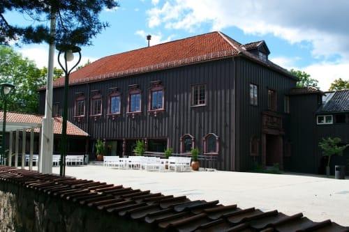 Folkestuen og Østerdalsstua - Uteområdene på Gjestestuene