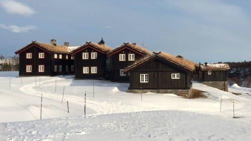 Selskapslokaler med overnatting - Gårdstunet vinter