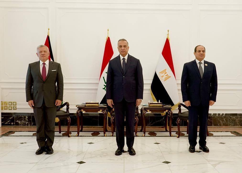 Egyptian, Jordanian and Iraqi leaders meet for third time in 3 years in Baghdad to discuss joint alliances and economic cooperation