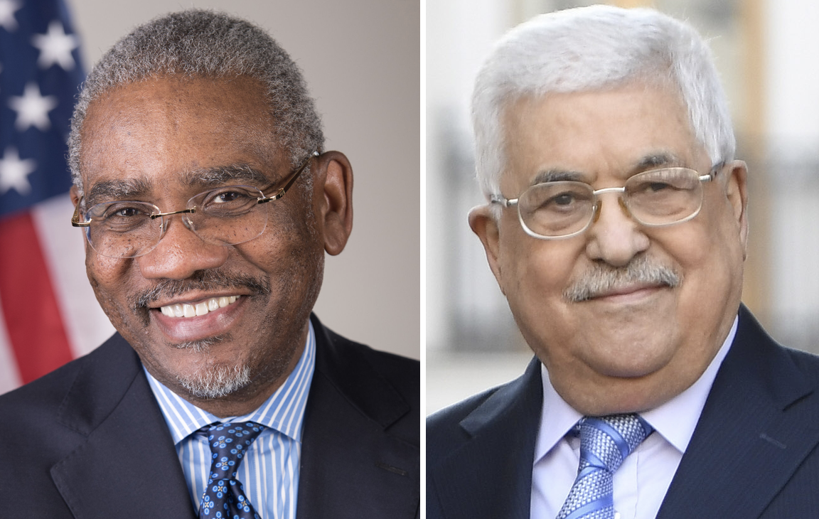 US Congressional delegation visits Palestinian president in first meeting since severing ties with DC