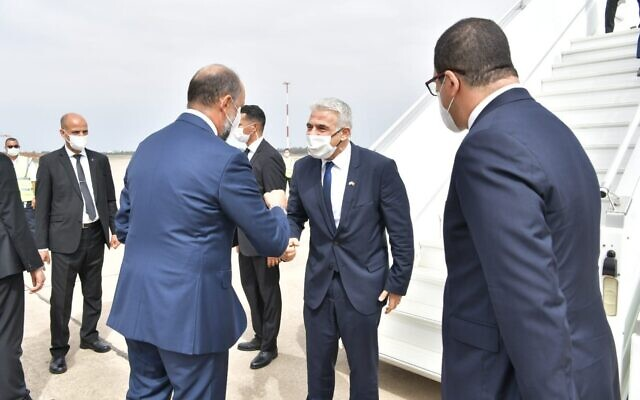 Israeli foreign minister arrives in Morocco for first official visit since Abraham Accords