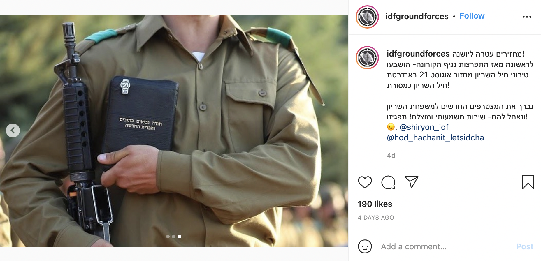 Photo of IDF soldier holding New Testament goes viral in Israel with accusations that missionaries have infiltrated the army