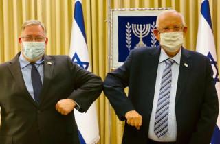 Joel C. Rosenberg with Israeli President Reuven Rivlin