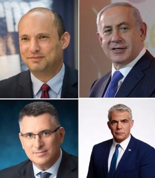 Netanyahu, Bennett, Saar, Lapid