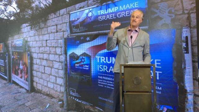 In Jerusalem press conference, Mike Evans vows 'my Evangelicals' will 'go into opposition' against Naftali Bennett-led government